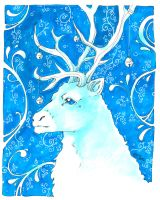 +blue reindeer+ by Sardiini