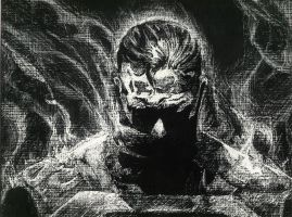 Superman Scratchboard by phycosis-x