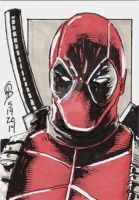 5/19/2014 Daily Sketch Card - Deadpool by tbeistel