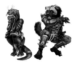 Otter and Wolverine Varjah by Droemar