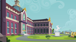 Canterlot High Outside - Angled by BonesWolbach