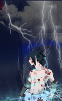 shirtless sasuke collab by zelka94