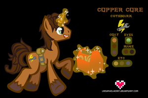 Copper Core Reference Sheet Commission by ladypixelheart