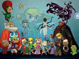 Wind Waker Crew Wallpaper Pack by GoombaLink