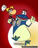 Rayman and Globox by toongrowner