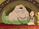 Peter the Hutt with Meg as Leia by darthraner83