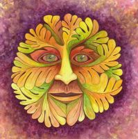 Autumn Green Man 1 by Artwyrd