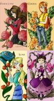 Harry Potter Flower girls by louloudia1983