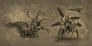 Insectoid Concepts by Kritzlof