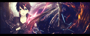 Kirito Sign - Sword Art Online by GuardianBR