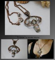 Triona- wire wrapped copper necklace by mea00