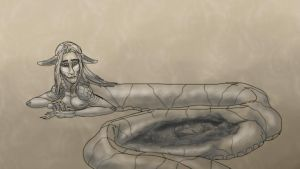 Vore Sketches--Protective Napping Spot by SpidersVore