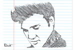 Elvis_Pen Scribble by MaxDaMonkey