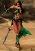 Mortal Kombat: Jade - Alternate Costume by JhonatasBatalha