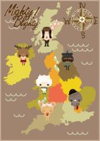 Mighty Blighty Print by Abblecrumble