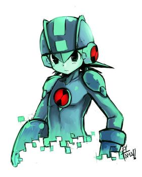 Megaman Exe by LazyTurtle