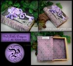 Purple N White Dragon on Paris Book by Tpryce