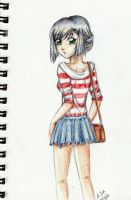 Anime Girl in Color Pencil by aLyTeh