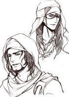 Character concept - Jibril, Mikail by PinkStripedMellon