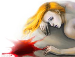 FOR SALE! Dying vampire girl by art-adoption