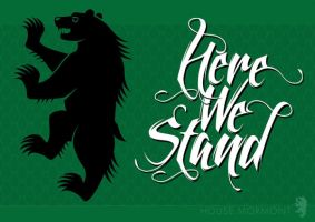 House Mormont Sigil Poster 2 by R3LIC28
