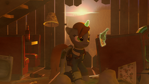 Littlepip scavenging [SFM] by Thespahthatspies