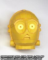papercraft LEGO Star Wars C-3PO droids WIP7 by ninjatoespapercraft