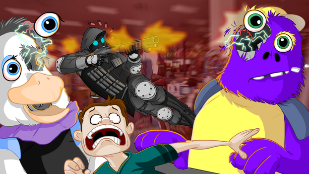 Chuck E Cheese vs Racoon City by ozthepowerful