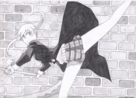 Maka Kicks Ass by Gryffingirl77