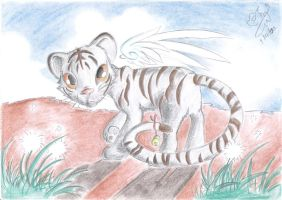 A Winged Little Cub by Winged-Dragoness
