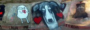 Street Art Dogs/ Event to-for the Stray Dogs by Johnny-Aza