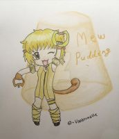 Mew Pudding- fan art by Vaahtonalle