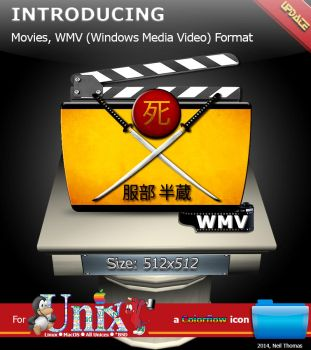 Movies, WMV Video Format folder icon (ColorFlow) by nt291263