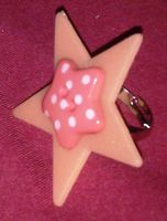 Kawaii Button Glow Star ring by Lovelyruthie