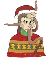 reluctantly festive smoker by perditionist