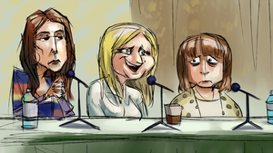Oliver, Ball, Libman at the panel by stupjam