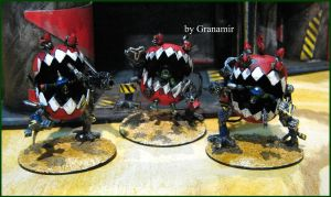Killer squigs kans unit by Granamir by Granamir