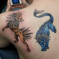 Pokemon tribute tattoos by joshing88