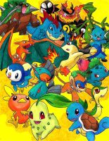 All starters I by Macuarrorro