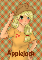 Applejack humanized by Salamini