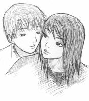 Couple sketch by jamegg