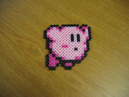 Kirby Bead Sprite by xdavexdewx