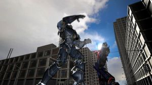 Gypsy Danger dancing with Optimus Prime by manguy12345
