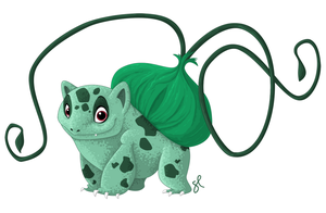 001 Bulbasaur by shayfifearts