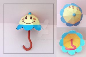 Peach's Parasol Papercraft by PaperBuff
