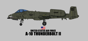 A-10 Thunderbolt II Profile by smailmyfinger