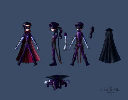 Hit-Girl Turnaround - Color by Ambroise-H
