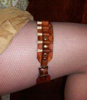 Steampunk Leather Leg Garter by Steampunked-Out