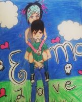 emo love piggyback by ninjalove134