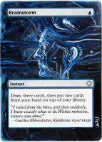 Magic Card Alteration: Brainstorm 8-3 by Ondal-the-Fool